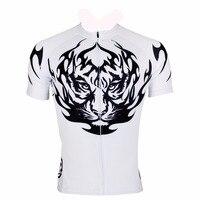 ILPALADINO Men Jersey Short Sleeve Sportswear Tiger Printing Riding Bicycle Tights Strap Zipper Bicycle Pro Team Short Clothing