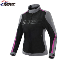 Women Motocross Jacket Summer Motorcycle Jacket Breathable Light Riding Tribe Moto Protective Clothing With 5pcs Protectors