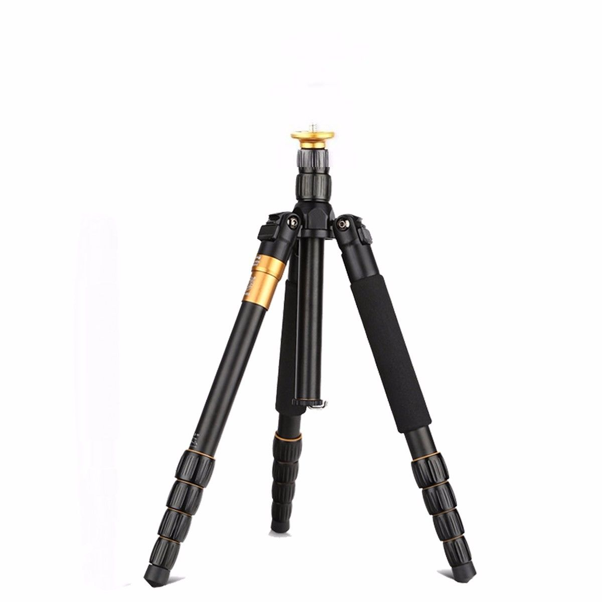 Q666 Lightweight Tripod For DSLR Camera Without Ball Head Monopod Tripod Compact Travel Camera Stand For Canon Nikon Sony SLR aluminium alloy professional camera tripod flexible dslr video monopod for photography with head suitable for 65mm bowl size