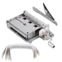 30 nota fita manivela mecânica musical caixa movimento + furador buraco 20 fitas tira em branco para diy mão cranked caixa de música