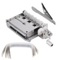 30 Note Tape Hand Crank Mechanical Musical Box Movement + Hole Puncher+ 20 Blank Strip Tapes
