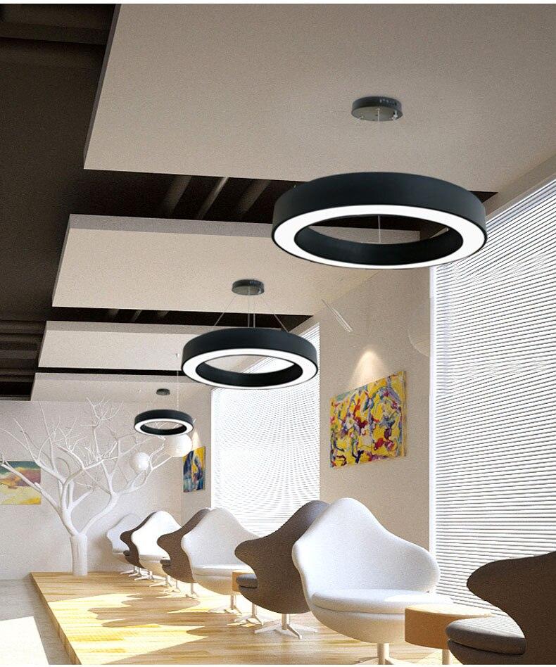 Модный железный подвесной светильник круглый металлический подвесной светильник ing morden светодиодный светильник подвесной светильник для гостиной спальни три размера - 4