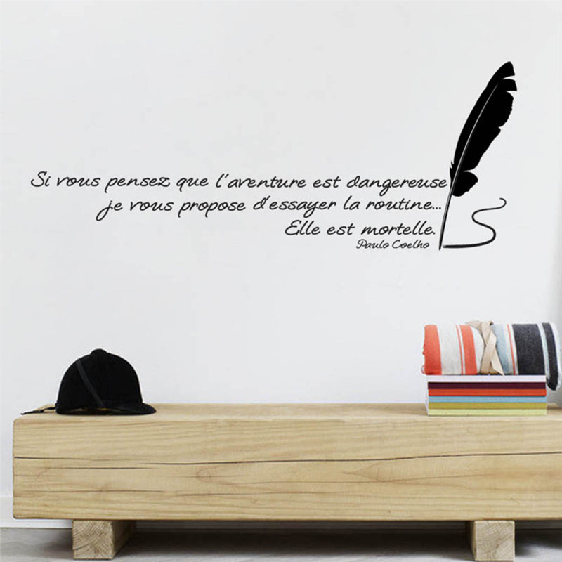 Encourage Word Wall Decals Removable Vinyl Wall Sticker Lettering Art Words Wallpapers for Living Room Home Decor Quote 50*70cm ...