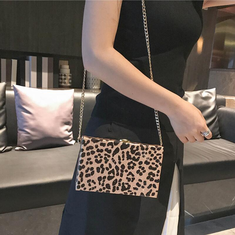 2018 New luxury handbags women bags Leopard Print Small Square Package Chain Single Shoulder Crossbody Bag Purses and Handbags pop art style leopard print pattern square shape pillowcase