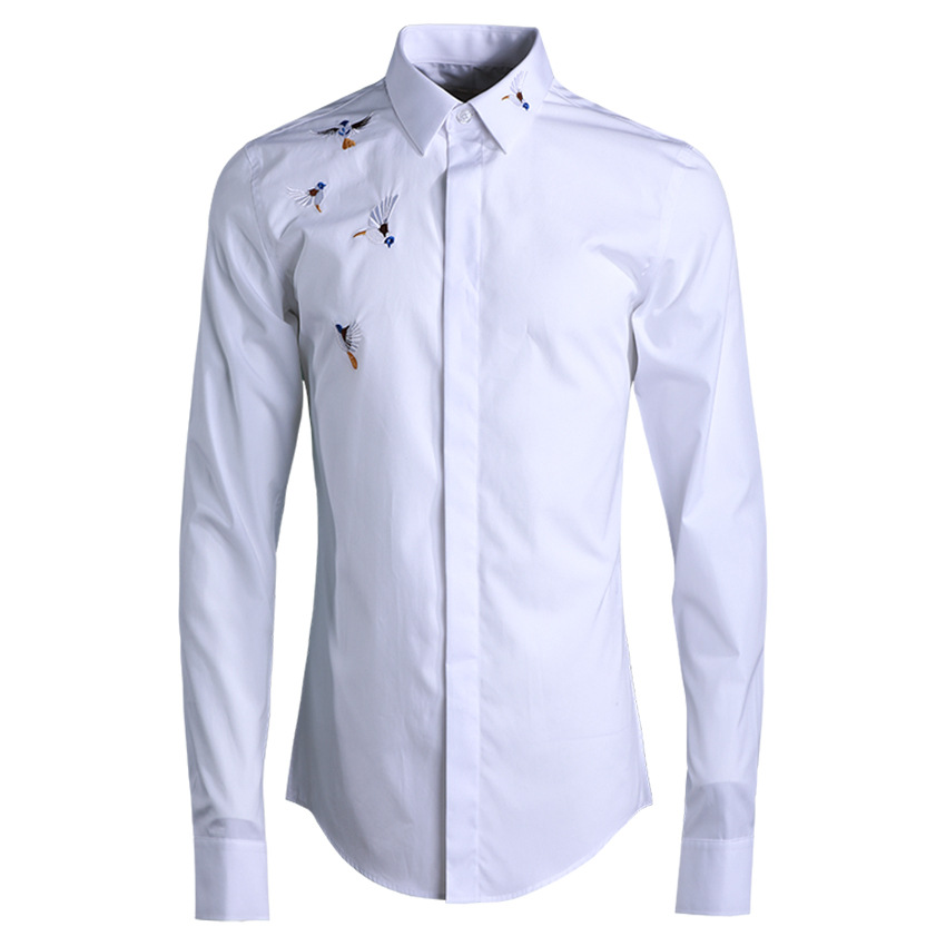 Deepocean Plus Size Men Shirt Cotton Shirt Men Clothes Brand Clothing Smart Casual Business Shirts for