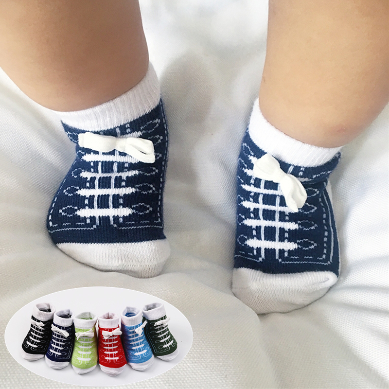 Newborn Socks Cotton Cute Baby Socks Short Thick Boys Girls Baby Feet Wear Kids Toddler Socks Shoes Accessories Colorful Summer