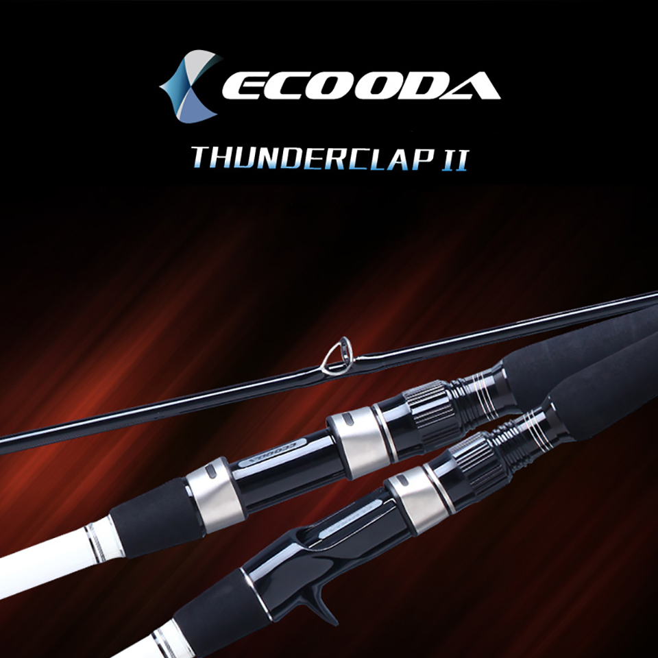 Ecooda Spinning Casting Fishing Rod 50-200g Lure Weight Portable Super Light Carbon Fiber Fishing Rod аккумуляторный триммер ryobi rlt1830h13 3002102