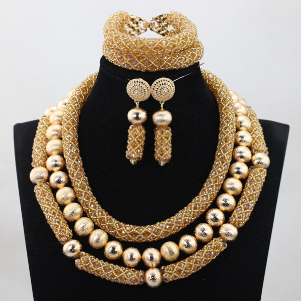 Unique 3 rows Crystal Beads Jewelry Set Handmade Fashion Beads Set Free Shipping  Item QW1019Unique 3 rows Crystal Beads Jewelry Set Handmade Fashion Beads Set Free Shipping  Item QW1019