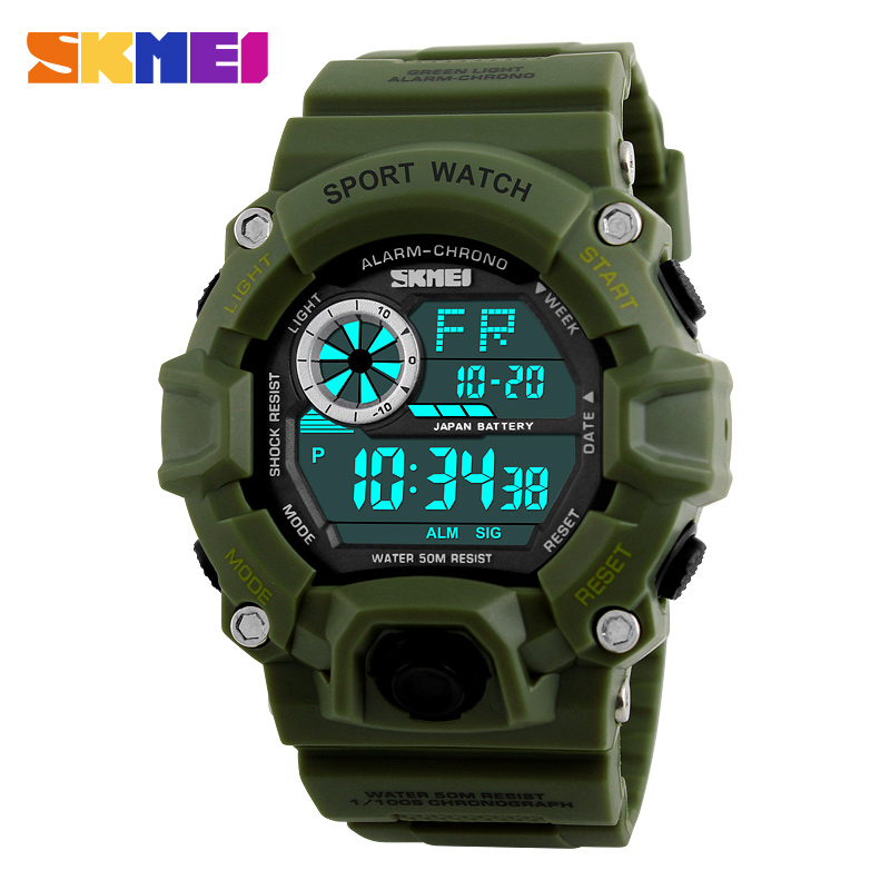 <font><b>SKMEI</b></font> Digital Watches Men Professional Waterproof Sport Military LED Watch Fashion Casual Men Wristwatches Hot Clock image