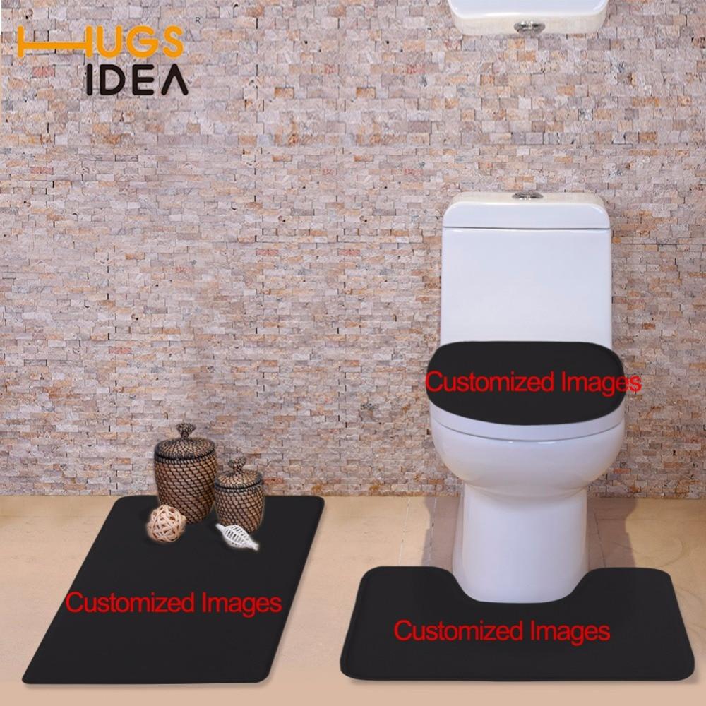 € 21.79 |HUGSIDEA housse de siège de toilette personnalisée accessoires de  salle de bain baignoire WC tapis antidérapant Contour tapis avec couvercle  ...