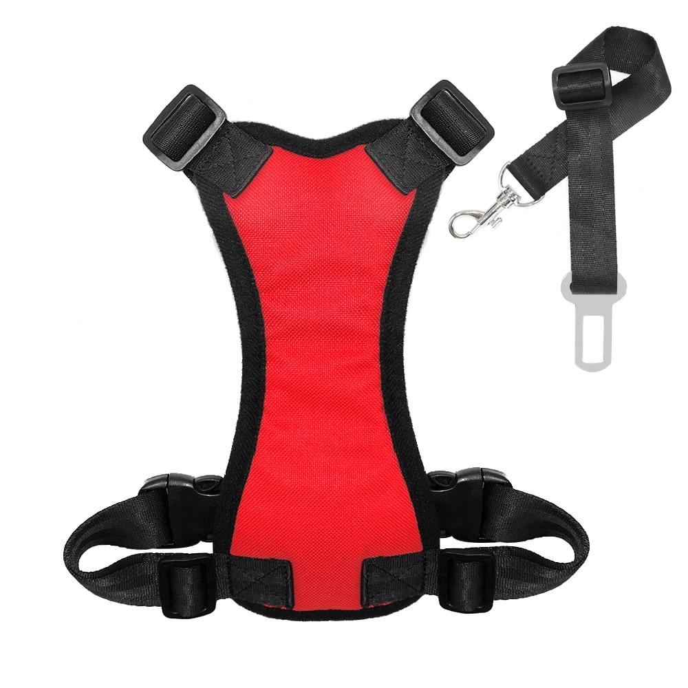Nylon Dog Car Seat Belt Mesh Pet Dogs Safety Car Harness Soft Padded Vest Vehicle Seatbelt Lead Leash For Medium Large 7
