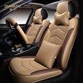 6D Styling Cubierta de Asiento de Coche Para Volvo XC60 XC90 S40 V40 V60 S60L C30, Cuero de Alta fibra, coche Cubiertas