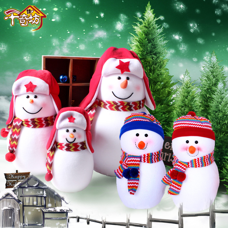 Lovely Christmas Snowman Doll Scene Decoration Gift Baby Shower Shop Window Layout Home Decoration Kerst Navidad super cute plush toy dog doll as a christmas gift for children s home decoration 20