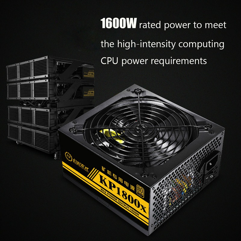 94% Efficiency 1800W 80Plus Modular PC Power Supply 12V 24PIN 8PIN for Miner High quality Computer Power supply For BTC 94
