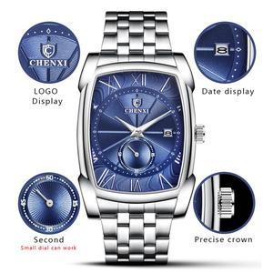 Image 4 - Mannen Horloges CHENXI Brand Quartz Horloge Klok Voor Man Luxe Unieke Stijl Nieuwe Horloges Relogio Masculino Militaire Polshorloge