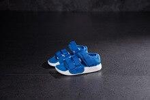 Мальчик сандалии 2018 Новые детские; пляжная обувь в Корейском стиле Нескользящие сандалии для девочек мягкие сандалии среднего Детская летняя обувь для детей