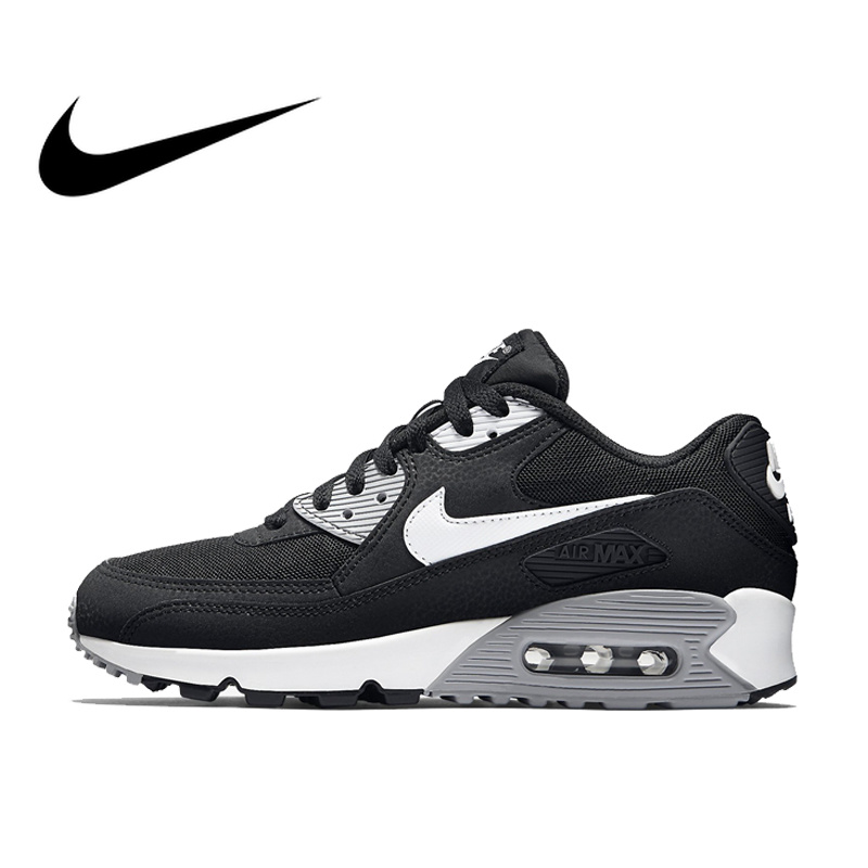 Nike AIR MAX 90 ESSENTIAL Breathable Black Running Shoes