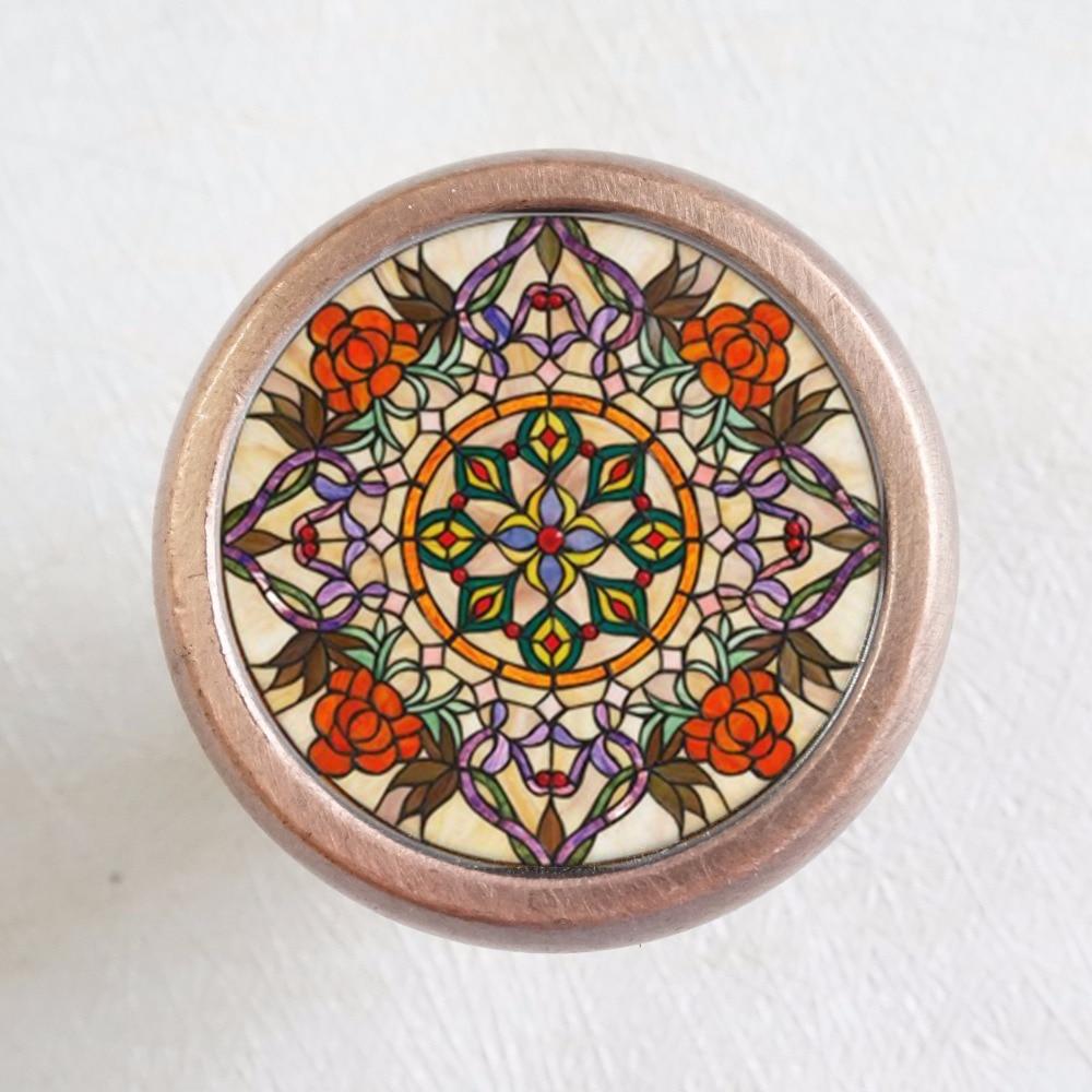 Vintage Church Flower  Drawer Knobs Vintage Style DIY Knobs Copper Sliver Bronze Modern Funiture Door Cabinet Handles Hardware балетки женские marice lacoste