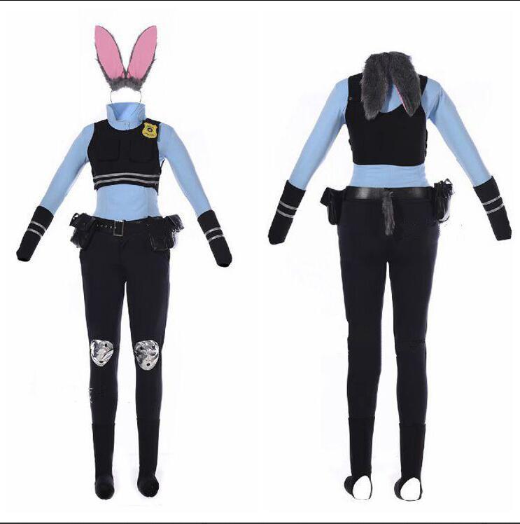 cartoon Halloween costume for adult Zootopia Cosplay costume Zootopia Judy Hopps cosplay costume custom made