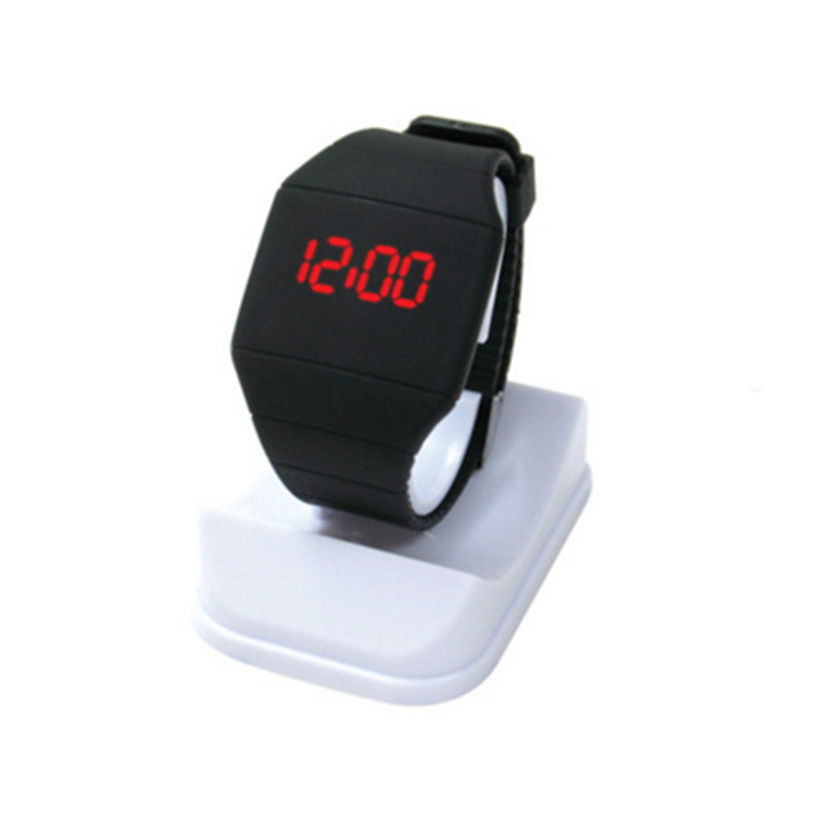 Ultrathin Square Led Electronics Wrist Watch Touch Screen L Gift Electronics Single Key Wrist Watch