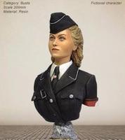 Resin Kits 1/9 woman GK officer Unpainted Kit Resin Model