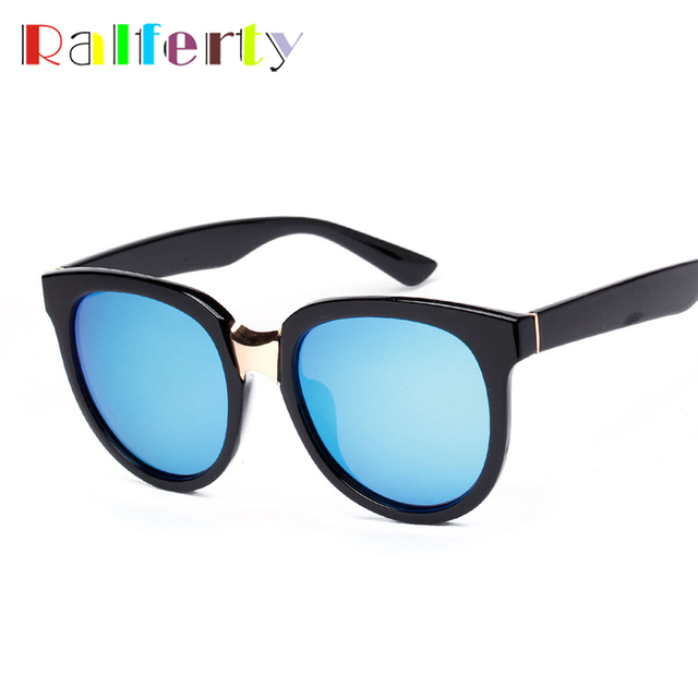 5dcd093642 Ralferty Oversized Blue Mirrored Polarized Sunglasses Women UV400 Sun  Glasses Shades Polaroid Coating Eye Glasses lunette