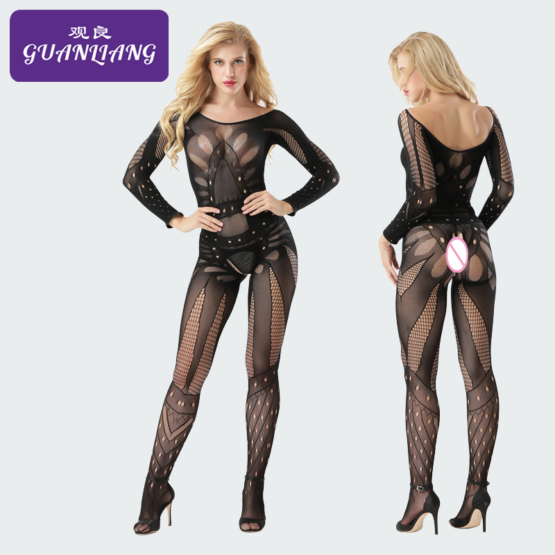 Erotica Slip Long-sleeve Bodystocking Lingerie Open Kruis Bodystocking Sexy Lingerie Patchwork Thong Body Porn Wetlook Lingerie
