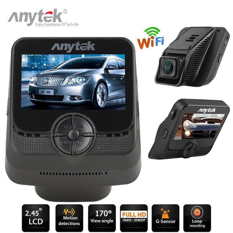 Anytek A50 2,45 НОВАТЭК 96658 IMX323 Wi-Fi 1080P Full HD Видеорегистраторы для автомобилей Камера видео Регистраторы 170 градусов 6 г объектив WDR g-сенсор регистра...