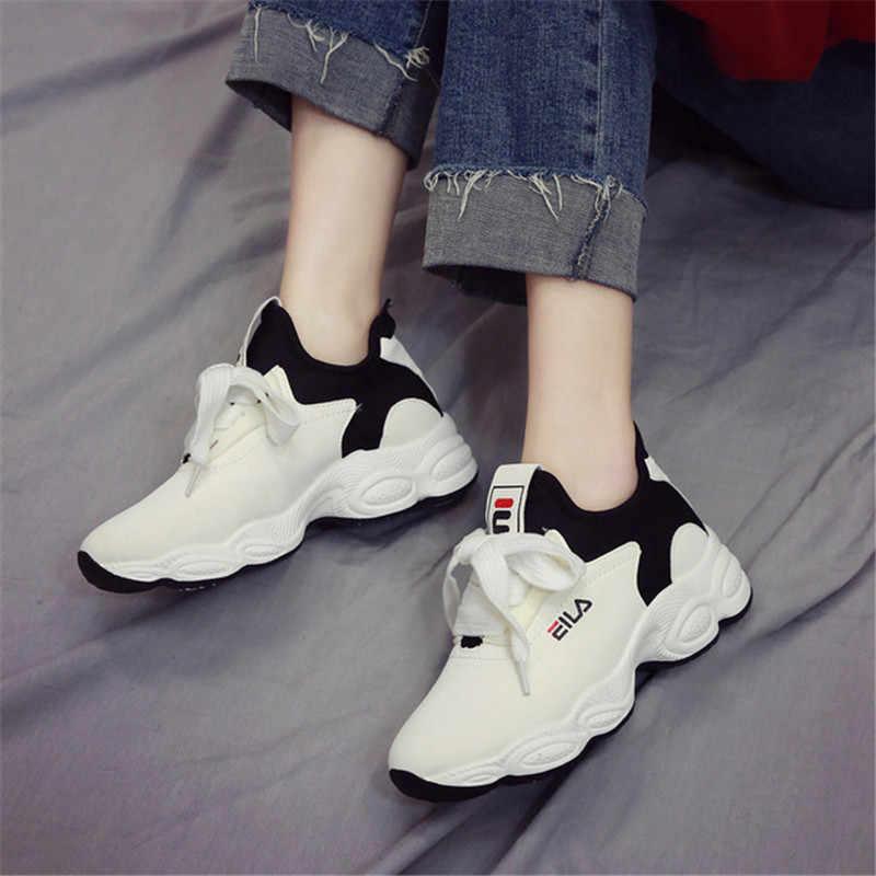 4ccbc794 ... 2019 женская повседневная обувь из сетчатого материала на танкетке,  tenis feminino, женские модные сникерсы ...