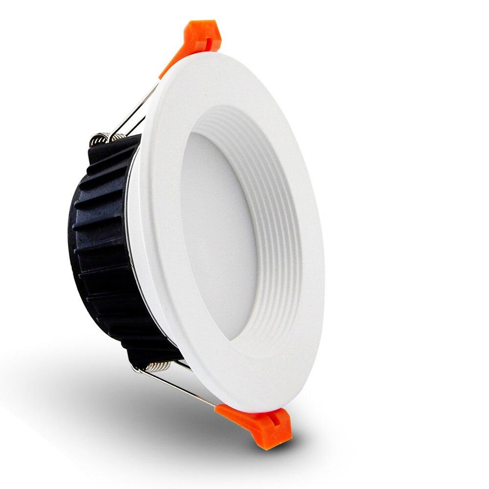 [DBF] AC85-265V LED Down lights 7W 10W 12W LED Downlight Warm white/cold white Led Ceiling Lamp Home Indoor Lighting bulb 12w 3500k 1050 lumen 12 led warm white light ceiling down lamp ac 100 245v