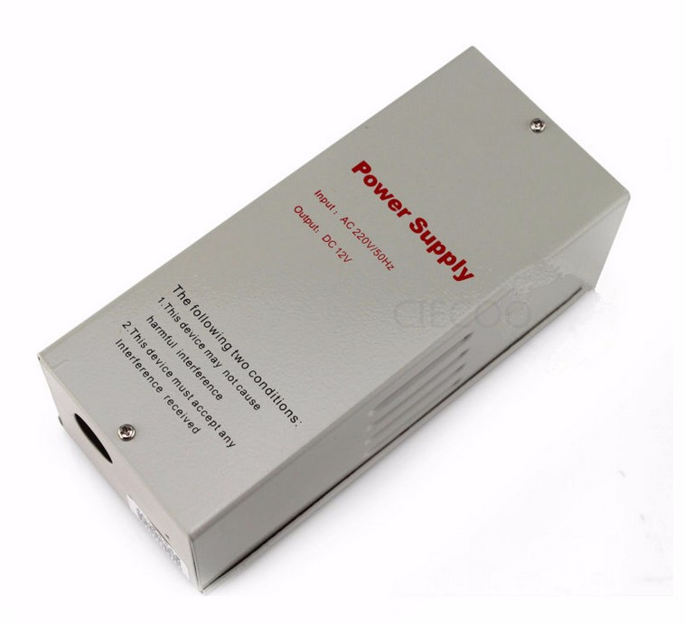ФОТО High quality Power Supply,220v 12V 5A Power Supply for Access control, Electric Lock, Release Button,NO/NC