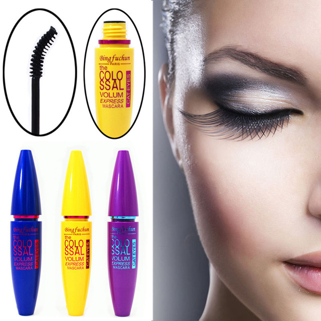 Cosmetic Black Mascara Makeup Eyelash Waterproof Extension Curling Eye Lashes 12g Water-Resistant  non-caking makeup