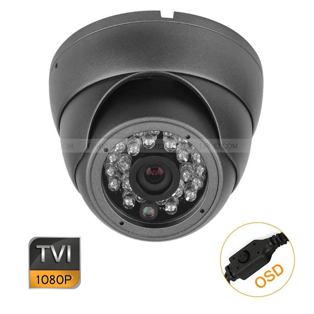 16PCS Home Mini 1/2.8 1080P 2.0MP 3.6mm Lens HD-TVI Metal Dome Camera OSD Menu hd tvi 1080p 1 2 8 metal dome camera 2mp varifocal 2 8 12mm lens osd menu