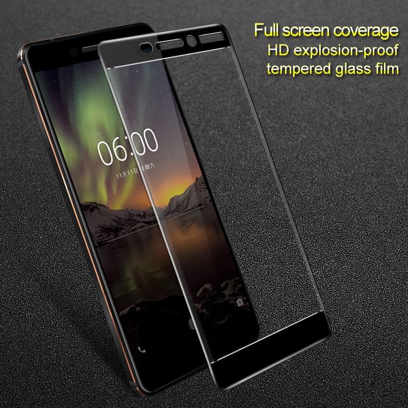 Pour 2018 Nokia 6 Deuxième génération 2th Pour Nokia 6 2018 verre Nokia 6.1 Imak Plein écran en verre trempé film écran protecteur