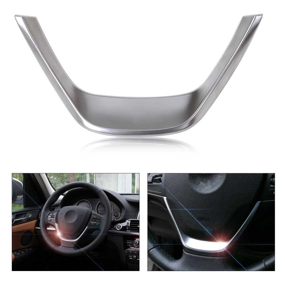 CITALL New Chromed Steering Wheel Cover Trim For BMW 3 Series F30 318 320 1 Series F20 116 118 2013 2014 2015 2016 f20
