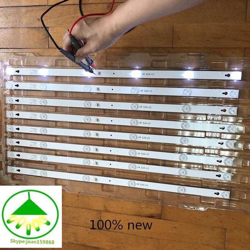4pcs/Lot 100% new 32inch LCD TV backlight strip for TCL L32P1A L32F3301B 32D2900 32HR330M06A8V1 4C LB3206 6led each lamp 6v 56CM-in Light Beads from Lights & Lighting