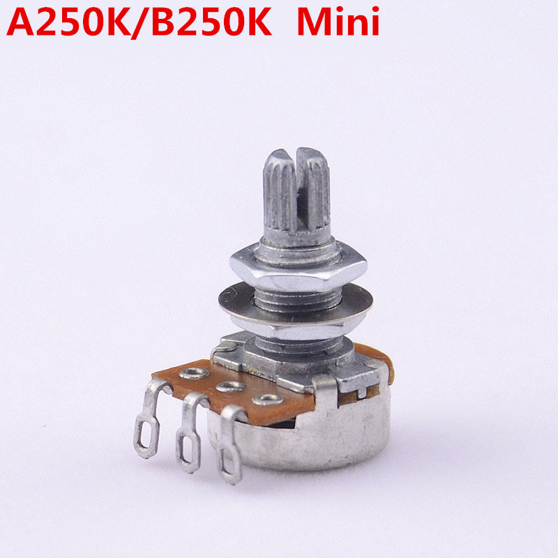 1 Piece GuitarFamily Alpha A250K/B250K Mini Potentiometer(POT) For Electric Guitar Bass ( #0187 ) MADE IN KOREA