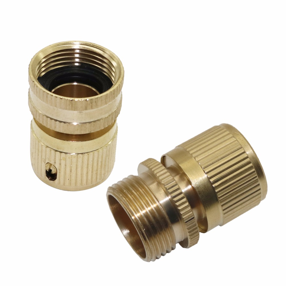 1 Pcs 3/4 Inch Male Female Thread Copper Quick Connector Garden Water Connection Accessories Car Washing Pipe Fittings