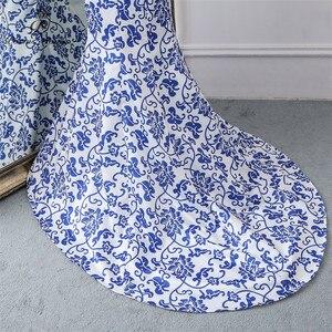 Image 5 - Poesie Canzoni 2019 China abito da sera blu del fiore elegante vestito da partito della sirena vestito da sera abito robe longue soiree