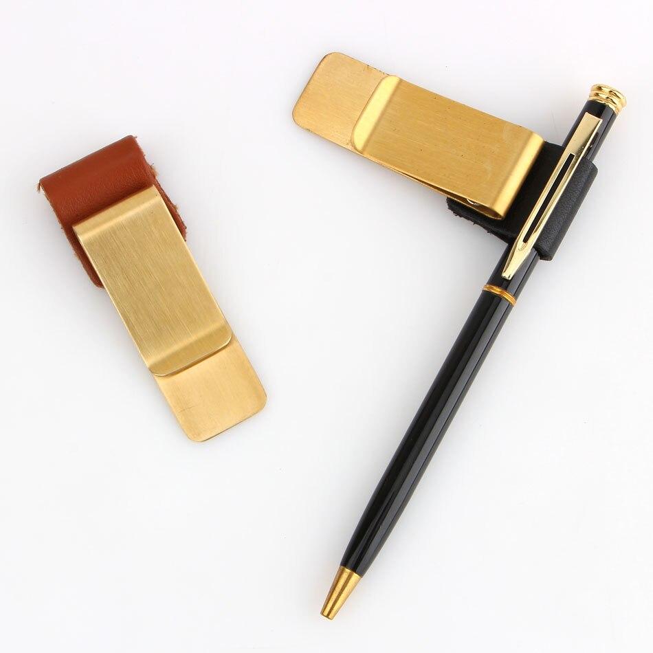 Металлический латунный держатель для ручек Traveler notebook для винтажной кожи Memo Clip Cowhide Diary Accessory