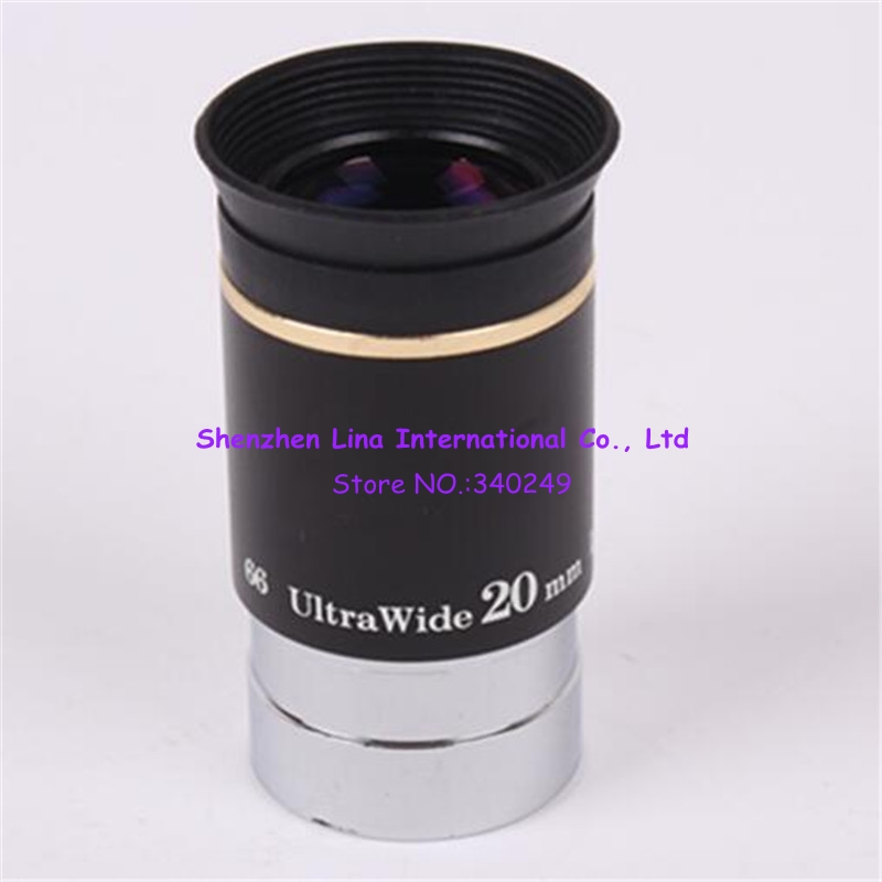 1.25 Inches 66 Degree UW 20mm Astronomical Telescope Planet Eyepiece Grows Magnification Wide Viewing Angle UW20MM