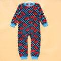 6 шт. / lot мальчик автомобиль ' S коралл бархат осень и зима после ванна мальчик мягкий детские комбинезоны пижамы 2 цвета