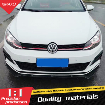For Golf 7.5 G TI Body kit spoiler 2016-18 For Volkswagen Golf ABS Rear lip rear spoiler front Bumper Diffuser Bumpers Protector