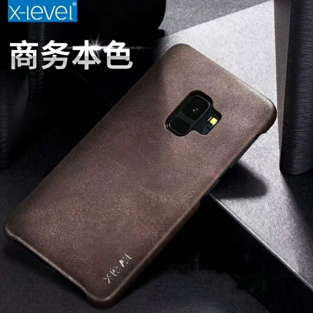 online store d0f35 af13e US $8.11 30% OFF|X Level Vintage Leather Phone Case For Samsung Galaxy S9  Case Samsung S9 Retro Ultra thin Protective Cover For Samsung S9 Plus-in ...