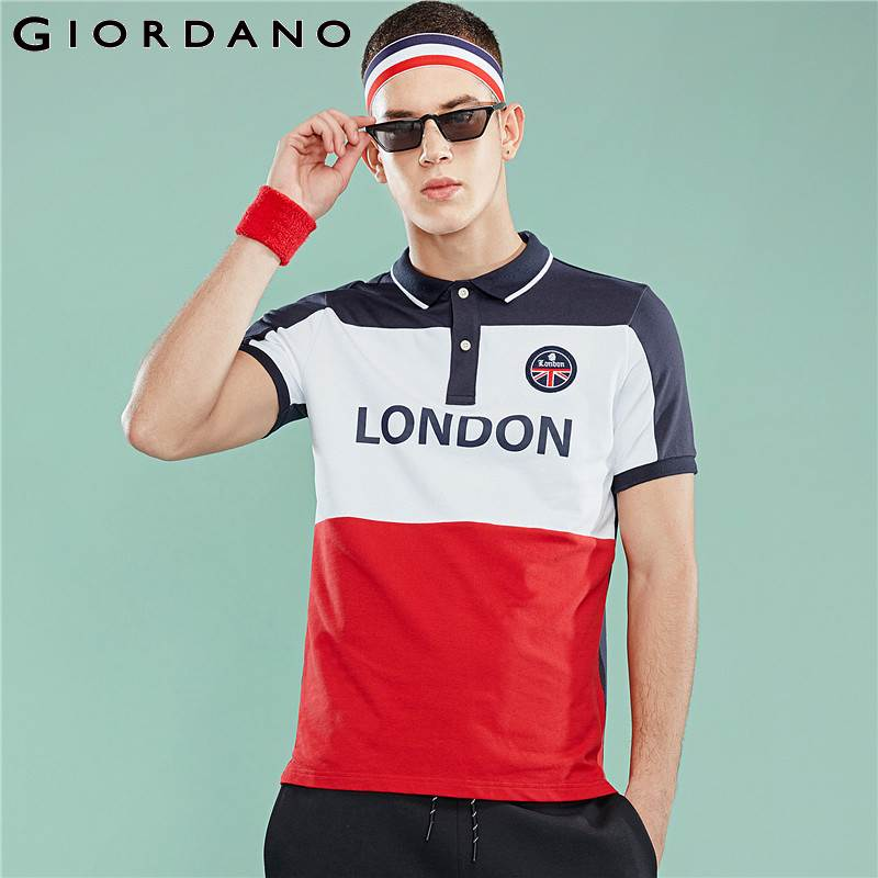 Giordano Men   Polo   Shirts Men England Style Embroidered Graphic Stretchy Pique Fabric Slim Fit   Polo   Men Shirt Branded   Polo   Hombre