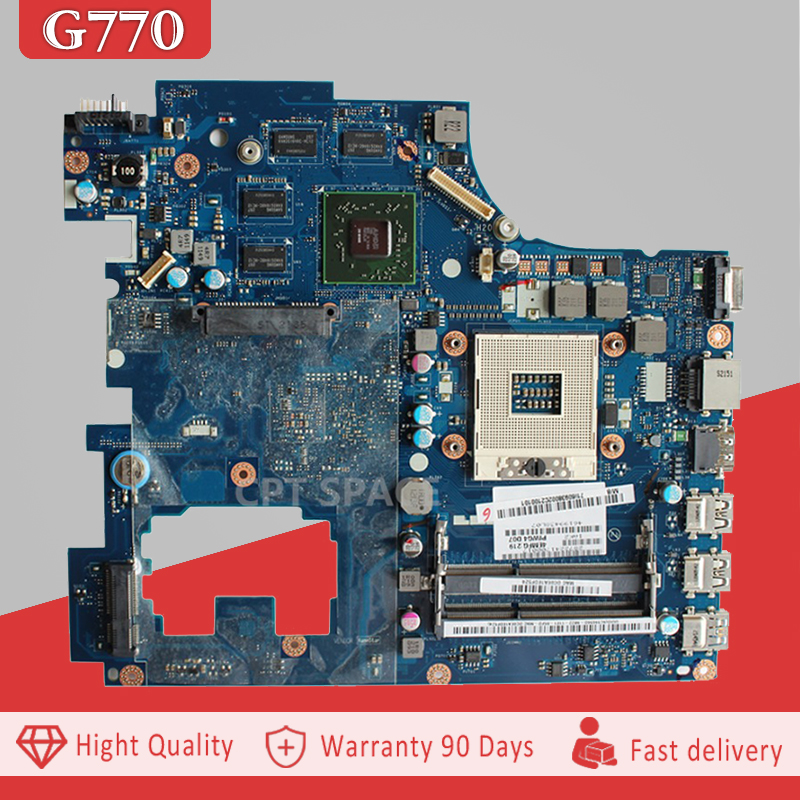 YTAI PIWG4 LA-6758P REV:1.0 For Lenovo IdeaPad Y770 G770 laptop Motherboard HM65 DDR3 PGA989 PIWG4 LA-6758P REV:1.0 Mainboard for lenovo laptop motherboard g570 piwg2 la 6753p hm65 ddr3 pga989 mainboard