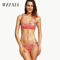 WEIXIA 2018 Bikini Hot 17014 Swimsuit For Women Push Up Bathing Suit Swimwear Women Sexy Thong