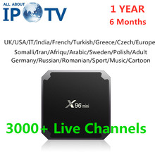 Original X96MINI Android Tv Box gratuit IPTV UK France allemagne italie USA suède grèce Europe arabe 1 an Code X96 Mini TvBox(China)