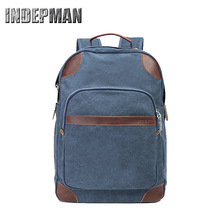 купить Casual Rucksacks Canvas College Student School Backpack Fashion Man Backpacks laptop backpack school Stachels for Teenager boys дешево