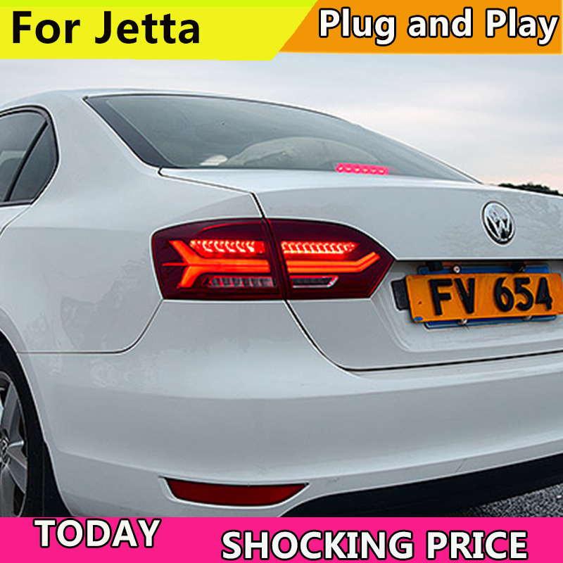 4PCS Car Styling for VW Jetta Taillights 2011-2014 for Jetta LED Tail Lamp+Turn Signal+Brake+Reverse LED light